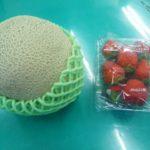 下関店ご利用のOさまからメロンとイチゴを頂きました!!